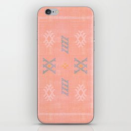Morocco Kilim in Peach iPhone Skin