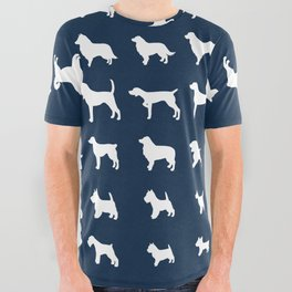 All Dogs (Navy) All Over Graphic Tee