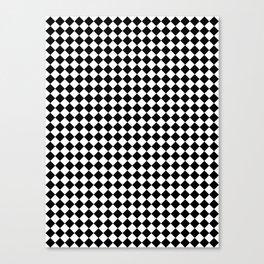 White and Black Diamonds Canvas Print