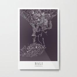 Bali - Indonesia Mind City Map 3A2E39 Metal Print