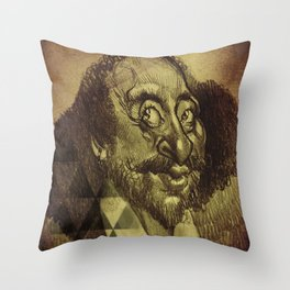 William Shakespeare-wise and fool Throw Pillow