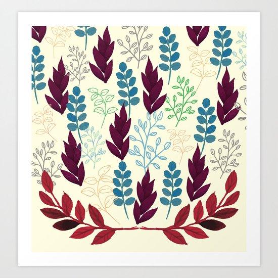 Floral Pattern #5 Art Print