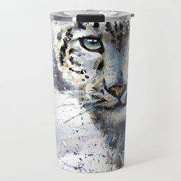 Snow leopard Wild and Free Travel Mug