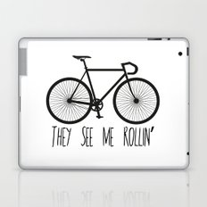 They See Me Rollin' Bicycle - Men's Fixie Fixed Gear Bike Cycling Laptop & iPad Skin