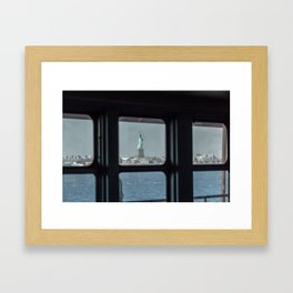 Statue of Liberty from the ferry Framed Art Print