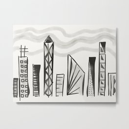 Hazy City Dreaming Metal Print