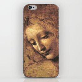 Head of a Woman - Leonardo Da Vinci iPhone Skin