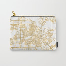 AMSTERDAM NETHERLANDS CITY STREET MAP ART Carry-All Pouch