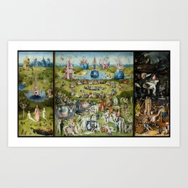 The Garden of Earthly Delights by Hieronymus Bosch (1490-1510) Art Print