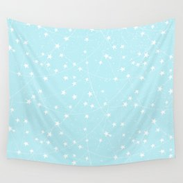 Merry Christmas- Teal Festive Stars X-Mas Pattern Wall Tapestry
