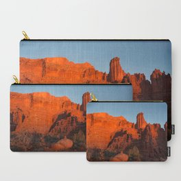 Sunset in Fisher Towers, Moab, Utah Carry-All Pouch
