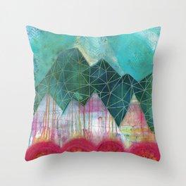 Mountain Winter Solstice Throw Pillow