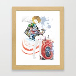 young, pretty, rich...and confused. Framed Art Print