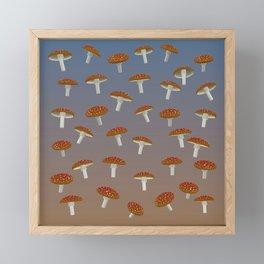 Fairy Mushroom Fields Framed Mini Art Print