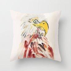 Fine Art Portrait Eagle  Throw Pillow