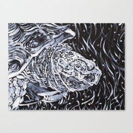 PORTRAIT OF A TURTLE Canvas Print