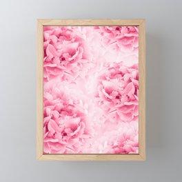 Light Red Peonies Dream #1 #floral #decor #art #society6 Framed Mini Art Print