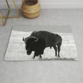 Bison On Open Range Rug