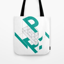 Exploded P Tote Bag