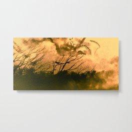 Burn Out - Canvas paint Metal Print