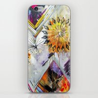 """flora bowley iPhone & iPod Skins featuring """"Burn Bright"""" Original Painting by Flora Bowley by Flora Bowley"""