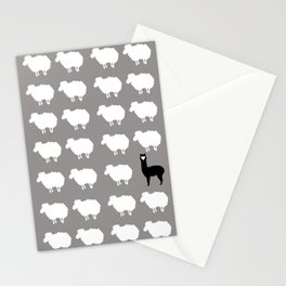 Don't be a sheep, Be a Llama Stationery Cards
