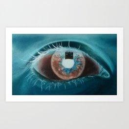 Negative eye Art Print