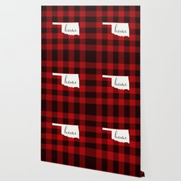 Oklahoma is Home - Buffalo Check Plaid Wallpaper