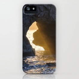Sunrays Through The Arch. Del Medio Beach. At Sunrise iPhone Case