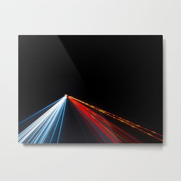 Two Way Traffic Lights Metal Print