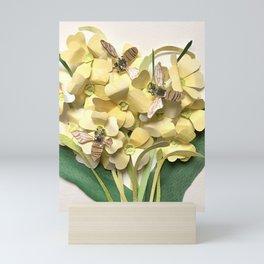 Oxlip Bees Mini Art Print