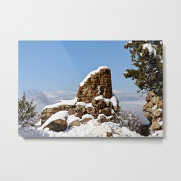 Desert View Watchtower. Grand Canyon. Arizona. USA. Metal Print
