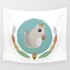 Japanese Flying Squirrel Wall Tapestry