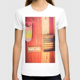 Items On A Corrugated Iron Wall T-shirt