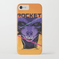 rocket raccoon iPhone & iPod Cases featuring Rocket Raccoon Guardians of the galaxy by W.B.