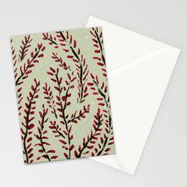 Red bud branches Stationery Cards