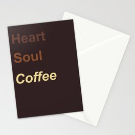 Heart Soul Coffee Stationery Cards
