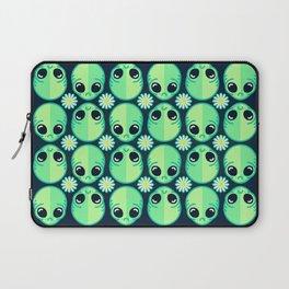 Sad Alien and Daisy Nineties Grunge Pattern Laptop Sleeve