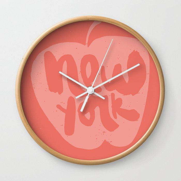 New York The Big Apple Wall Clock By Julianarojas Society6