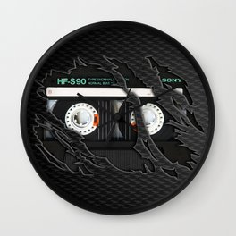 Retro classic vintage Black cassette tape Wall Clock