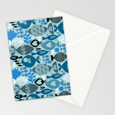 blue fish Stationery Cards