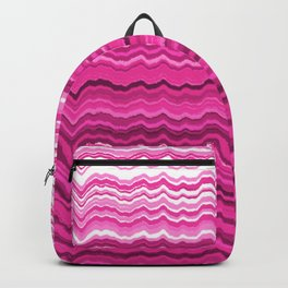 Pink wavy lines pattern Backpack