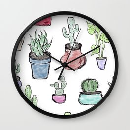 Plants and Cacti Wall Clock