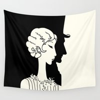 deco Wall Tapestries featuring Deco Couple by Kellabell9