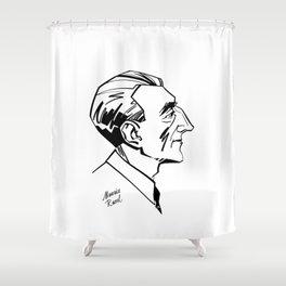 Maurice Ravel Shower Curtain
