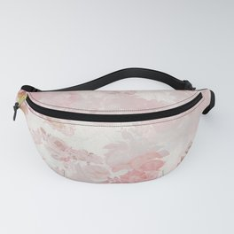 Vintage Floral Rose Roses painterly pattern in pink Fanny Pack