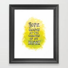 Hope Grows Framed Art Print
