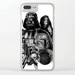 THE EMPIRE/THE DARK SIDE Clear iPhone Case