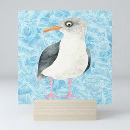 Seagulls on Water Mini Art Print