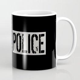 Police: Police Flag (Thin Blue Line) Coffee Mug